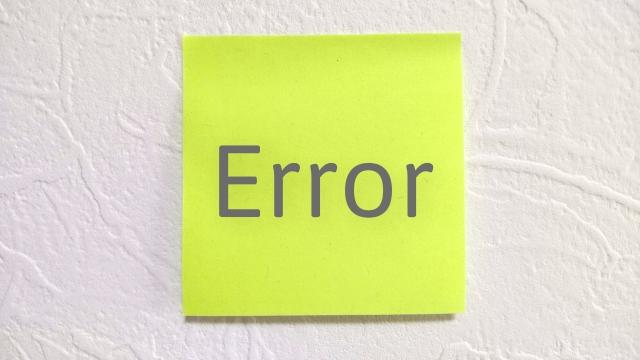サイトで技術的な問題が発生しています😲!?